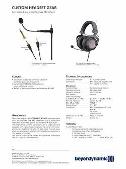 Specs: Headset