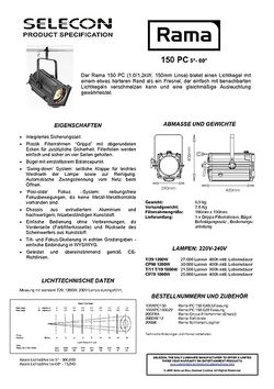 Selecon Rama 150 PC Datenblatt