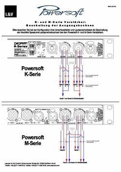 Speakon Beschaltungsplan Powersoft K & M Serien
