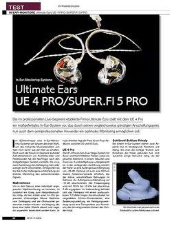 KEYS Ultimate Ears UE 4 PRO/SUPER.FI 5 PRO