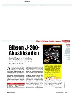 Soundcheck Gibson J-200 Deluxe Phosphor Bronze - Akustiksaiten