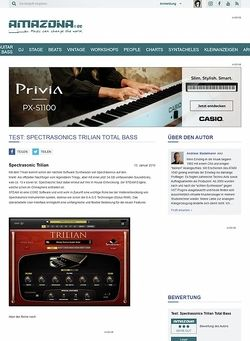 Amazona.de Test: Spectrasonics Trilian Total Bass