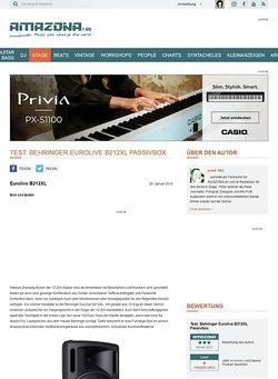 Amazona.de Test: Behringer Eurolive B212XL Passivbox
