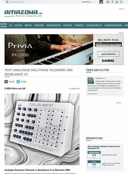 Amazona.de Test: Analogue Solutions Telemark und Semblance V2