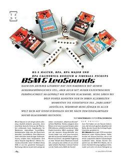 Gitarre & Bass Blackmore! BSM Booster & LeoSound Pickups