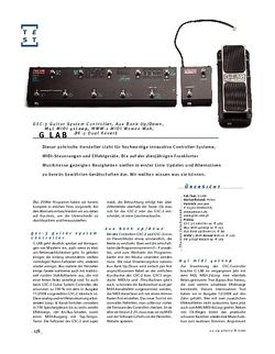 Gitarre & Bass G-Lab GSC-3 Guitar System Controller, Aux Bank Up/Down, M4L MIDI 4xLoop, MWW-1 MIDI Wowee Wah, DR-3 Dual Reverb