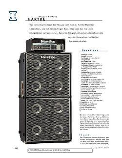 Gitarre & Bass Hartke HA5500 & HX810, Bass-Anlage