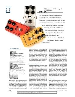 Gitarre & Bass Xotic AC-Booster, RC-Booster, BB-Preamp, FX-Pedals