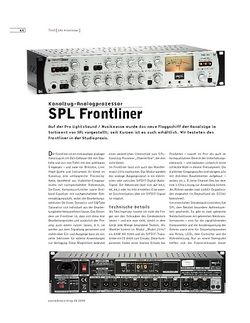 Sound & Recording SPL Frontliner
