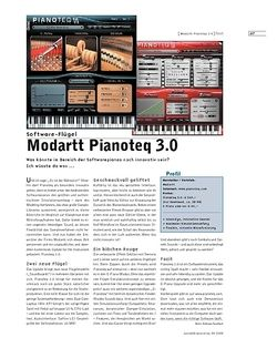 Sound & Recording Modartt Pianoteq 3.0