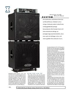 Gitarre & Bass Kustom Deep End 200 HD, DE115 & DE410, Bassanlage
