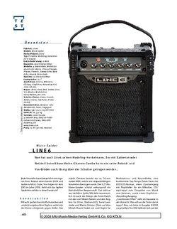 Gitarre & Bass Line6 Micro Spider, Modeling-Combo