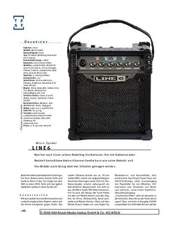Gitarre & Bass Line6 Micro Spider, Modeling-Combo