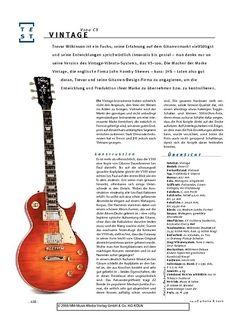 Gitarre & Bass Vintage V100 CS, E-Gitarre
