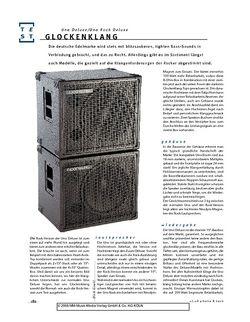 Gitarre & Bass Glockenklang Uno Rock Deluxe & Uno Deluxe, Bass-Boxen