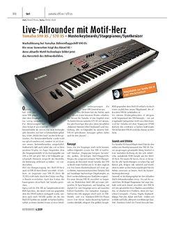 Keyboards Yamaha S90XS / S70XS - Masterkeyboards/Stagepianos/Synthesizer