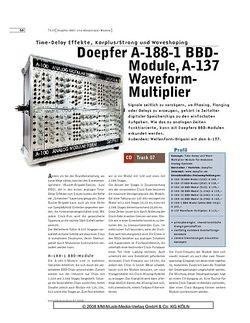 Sound & Recording Doepfer A-188-1 BBDModule, A-137 Waveform Multiplier