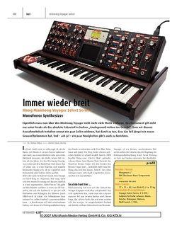 Keyboards Moog Minimoog Voyager Select Series