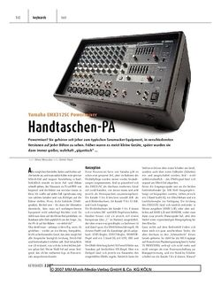 Keyboards Yamaha EMX312SC Powermixer