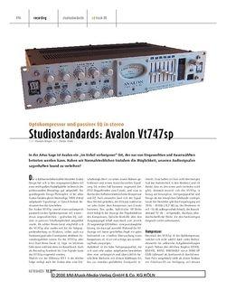 Keyboards Studiostandards: Avalon Vt747SP