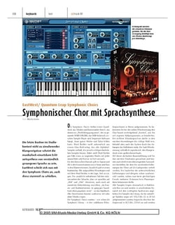Keyboards EastWest/Quantum Leap Symphonic Choirs