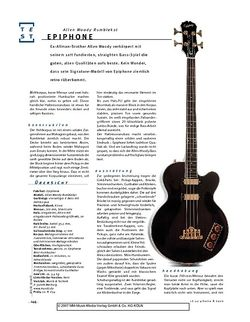 Gitarre & Bass Epiphone Allen Woody Rumblecat, Semiakustik-E-Bass