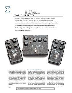Gitarre & Bass Xotic Effects Bass RC Booster, Bass RC Preamp, Tri-Logic Bass Preamp, Bass-Effekte