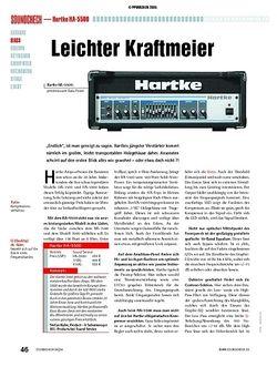 Soundcheck Test: Hartke HA-5500