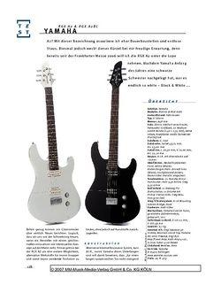 Gitarre & Bass Yamaha RXG A2 & A2BL, E-Gitarren