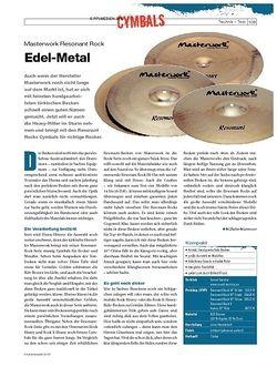 DrumHeads Instrumente & Technik: Masterwork Resonant Rock
