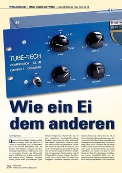 Professional Audio Wie ein Ei dem anderen: Softube Tube-Tech CL 1B