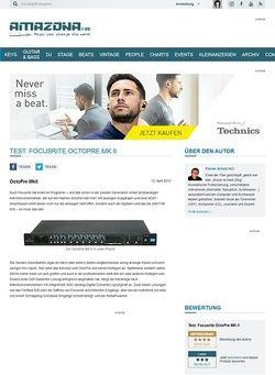 Amazona.de Test: Focusrite OctoPre MK II
