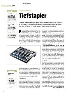 Tastenwelt Test: Soundcraft EFX12 - Tiefstapler