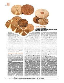 Sticks Paiste Traditionals, Signature & New Signature Cymbals