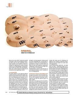 Sticks Meinl Mb10 Cymbals