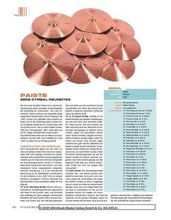 Sticks Paiste 2002 Cymbals