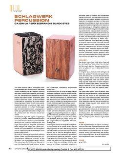 Sticks Schlagwerk Percussion Cajon La Peru Zebrano & Black Eyes