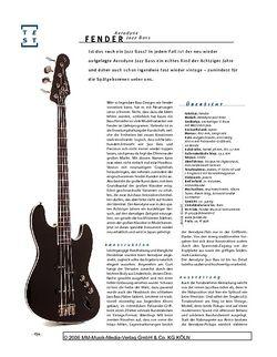 Gitarre & Bass Fender Aerodyne Jazz Bass, E-Bass