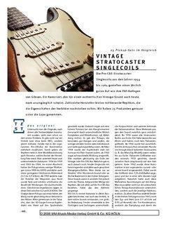 Gitarre & Bass Vergleichstest: Vintage Stratocaster Singlecoils
