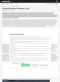 Bonedo.de Toontrack Superior Drummer 2