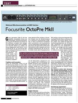 KEYS Focusrite OctoPre MkII