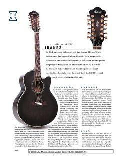 Gitarre & Bass Ibanez AEL2012E, E/A-Gitarre