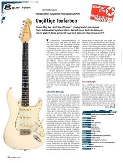Guitar gear E-Gitarre - Vintage V6MRTBG Blugocaster Thomas Blug Signature