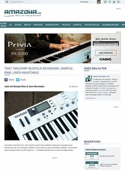Amazona.de Test: Waldorf Blofeld - Keyboard, Sample-RAM & User-Wavetable
