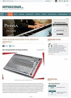 Amazona.de Test: Allen & Heath ZED-12 FX Mischpult