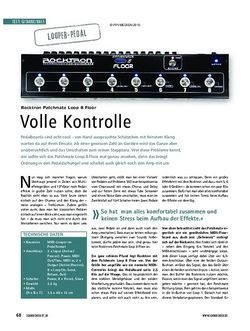 Soundcheck Test: Rocktron Patchmate Loop 8 Floor - Volle Kontrolle