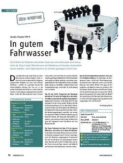 Soundcheck Test: Audix Fusion FP-7 - In gutem Fahrwasser