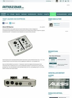 Amazona.de Test: Alesis IO2 Express