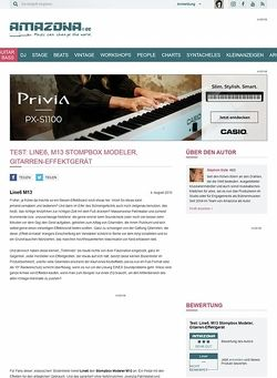 Amazona.de Test: Line6, M13 Stompbox Modeler, Gitarren-Effektgerät