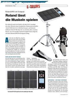 DrumHeads Instrumente & Technik: Roland SPD-30 Octapad